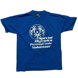 Vintage Special Olympics T-Shirt Size Large Blue
